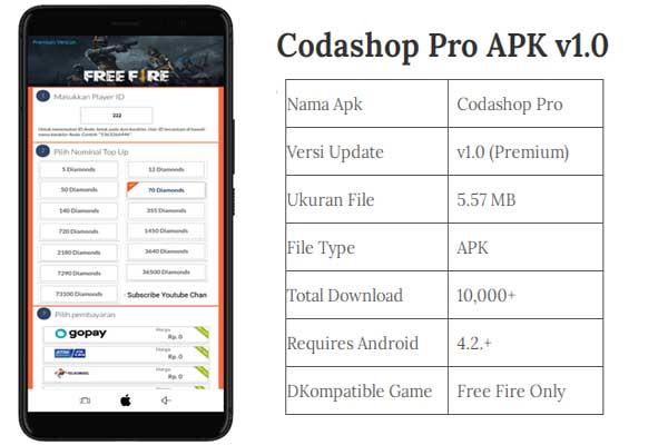 Codashop Pro APK